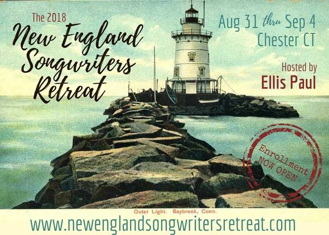 New England Songwriters Retreat August 31 through September 4 2018