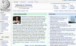 Ellis Paul featured on Wikipedia Main Page