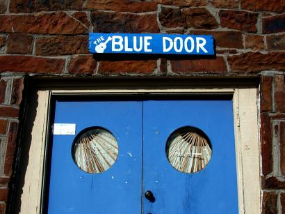 Entrance to The Blue Door in Oklahoma City