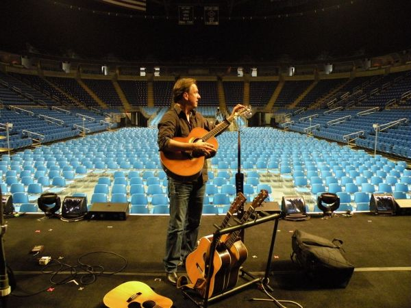 Sound check at the Bryce Jordan Center