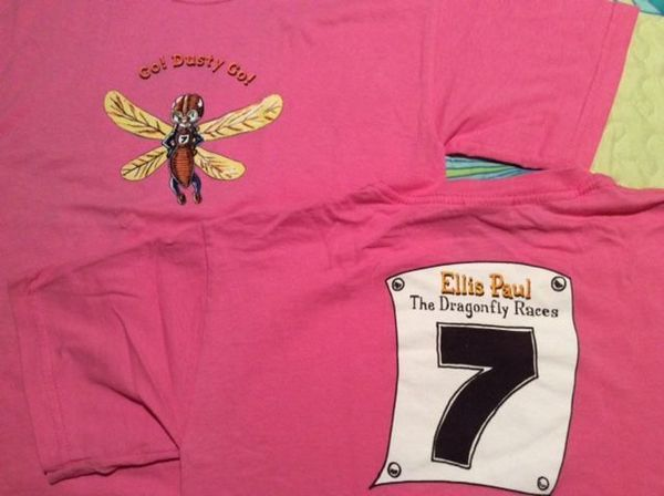 T-shirt nbspDragonfly Races - Pink Youth Sizes